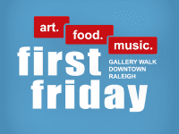 First Friday Gallery Walk in Raleigh