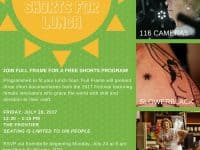 """Free: Full Frame """"Shorts for Lunch"""" in RTP (free popcorn too!)"""