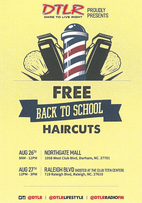 Free Back To School Haircuts For Kids At Dtlr Triangle On The Cheap