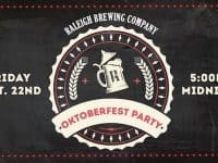 Oktoberfest Party at Raleigh Brewing