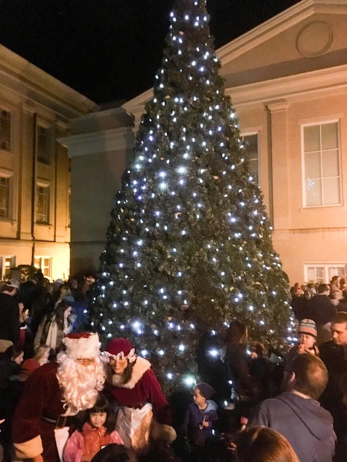 downtown chapel hill community tree lighting triangle on the cheap
