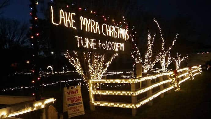 one of the largest and most spectacular christmas light displays in north carolina is in wendell lake myra christmas lights features almost a quarter of a