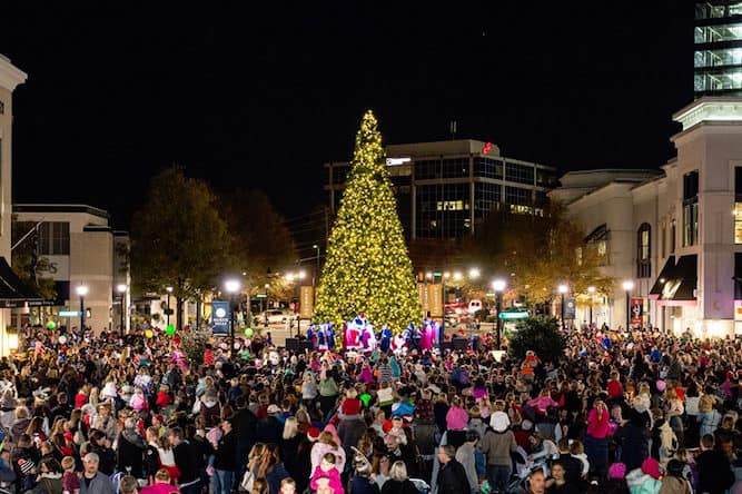north hills tree lighting triangle on the cheap