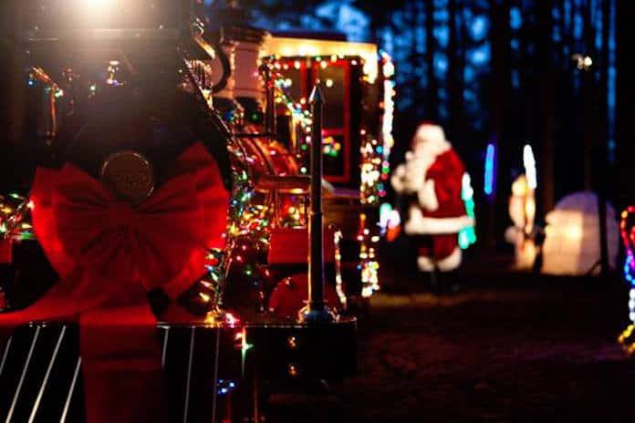 santa train at museum of life science - Christmas Train Denton Nc