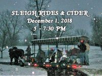Sleigh Rides and Cider at Historic Oak View County Park