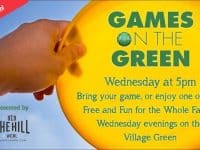 Weekly family-friendly Games on the Green at Southern Village starting in April