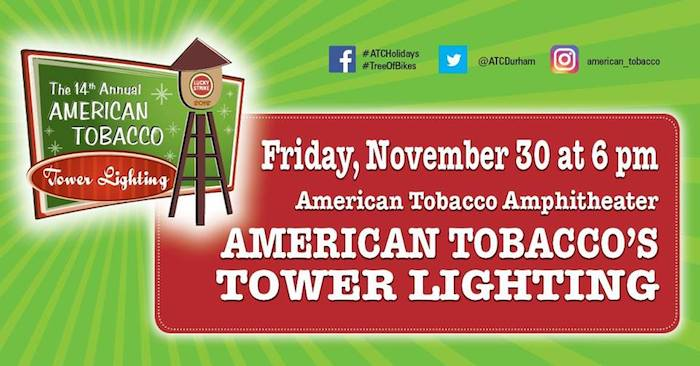 14th Annual American Tobacco Tower Lighting And City Of Durham Tree