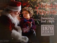 Holiday Hayrides at 1870 Farm in Chapel Hill